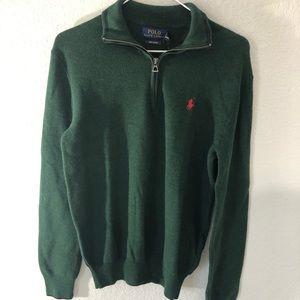 Green Ralph Lauren Polo Zip Sweater XS